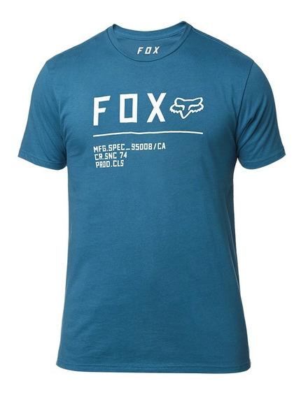 Playera Fox Premium Ss Non S Azul Maui