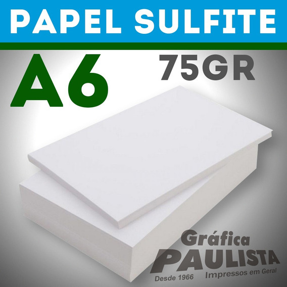 Papel Sulfite Branco Offset A6 75gr 2000 Folhas