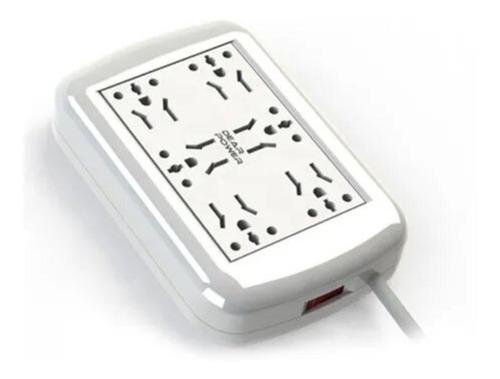 Imagen 1 de 4 de Zapatilla Electrica Multitoma 6 Tomas
