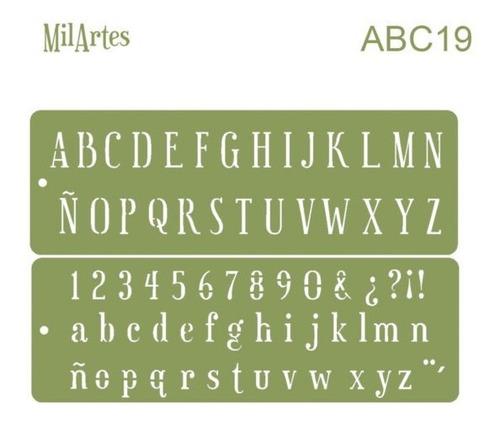 Mil Artes - Stencil Letras Mayúsculas 2cm Alto - Abc19
