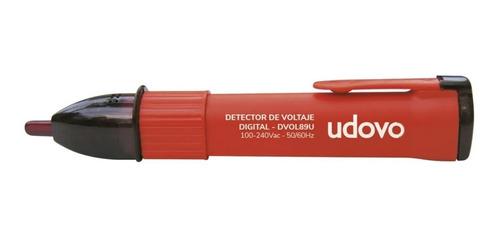Imagen 1 de 6 de Detector De Voltaje Digital 100-240vac Udovo Dvol89u Luz Led
