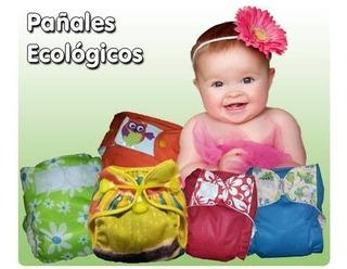 Pañal Ecológicos En Tela Ecolitas Kit 3 Pañales / 6 Absor