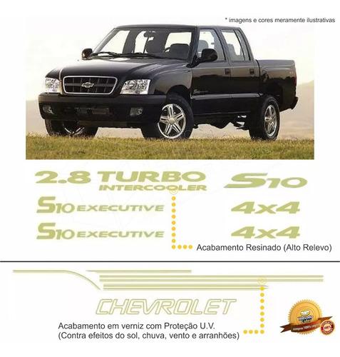 Imagem 1 de 2 de Kit Adesivos/emblemas Chevrolet S10 Executive 03 A 05 Verde