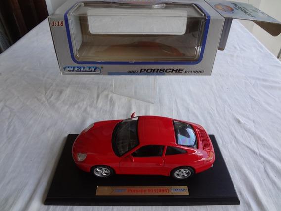 Miniatura Porsche 911 1997 , 1/18 Na Caixa Lacrado Welly