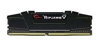 Memoria Ram 8gb G.skill Ripjaws V Series (2 X 4gb) 288-pin Ddr4 Sdram Ddr4 3200 (pc4 25600) Modelo F4-3200c16d-8gvkb