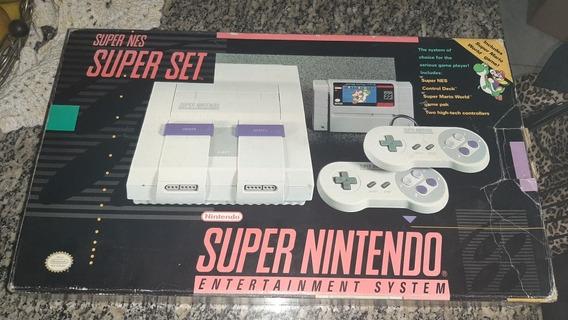 Super Nintendo Snes Com Caixa