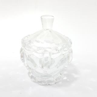 Bombonera Con Tapa Vidrio Adorno Casa 7cm