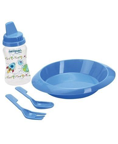 Kit Refeição Neopan Azul 4 Peças+brindefrete Grátis!!!!!!!!!