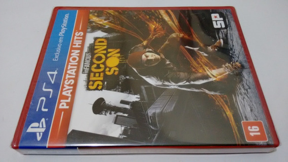 Infamous Second Son Ps4 Mídia Física Lacrado Playstation 4