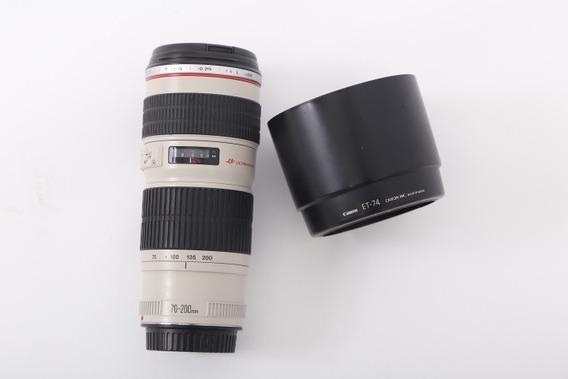 Lente Canon 70-200mm F 4l Ultrasonic. Sem Fungo.