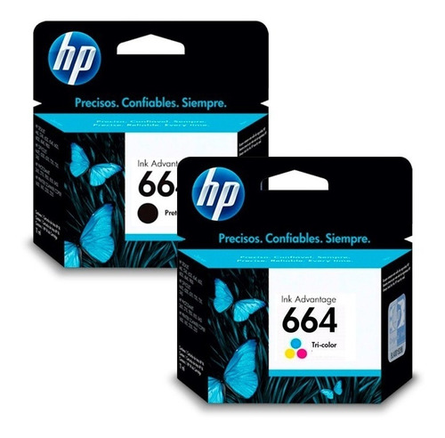 Combo Cartuchos Hp 664 Negro + Color Original 2135 3635 4535