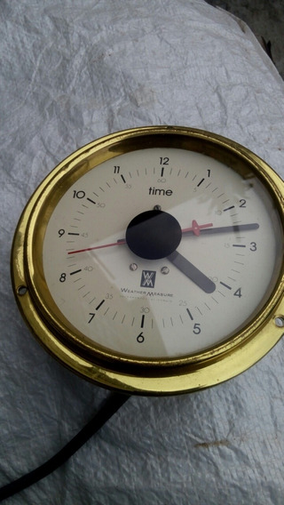 Reloj Vintage De Panel Funciona Bien