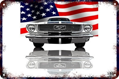 Poster Carteles Antiguos 60x40cm Ford Mustang Shelby Au-050