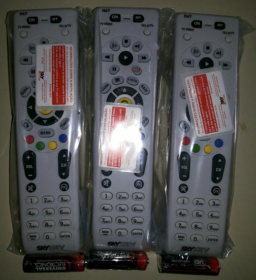 Lote Com 3 Controles Universal S.k.y Hdtv Plus Novos