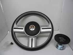 Volante Rally Aluminio Escovado Caminhao Volkswagen Apos1986