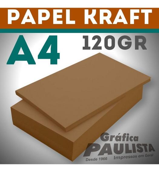 Papel Kraft Offset A4 120gr 250 Folhas