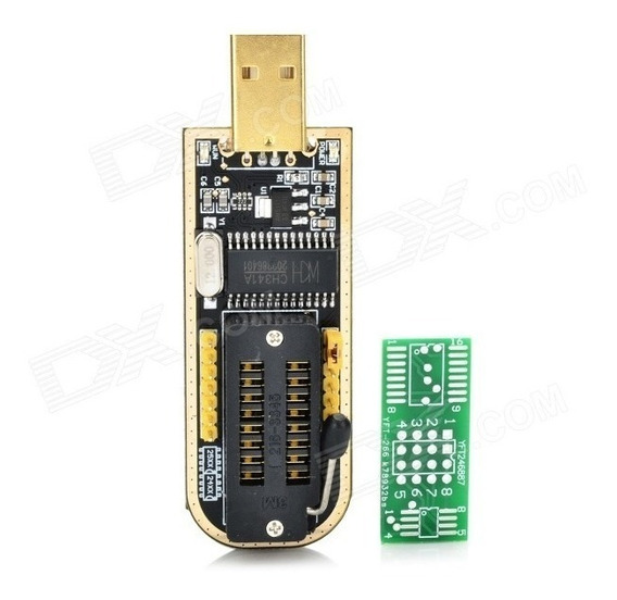 Programador Usb Ch341a + Pinza Soic8 + Cable Eeprom 24 25