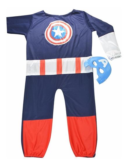 Disfraz Niño Capitan America Infantil Calidad Superheroes