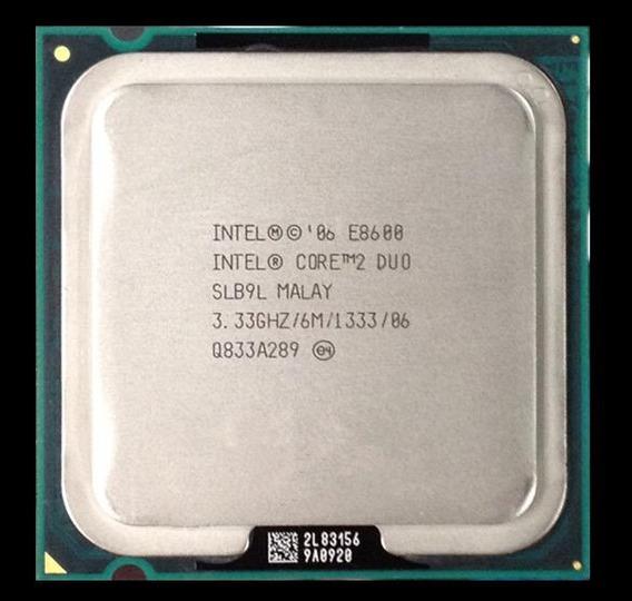 Processador Intel Core 2 Duo E8600 3,33ghz Fsb1333- (usado)