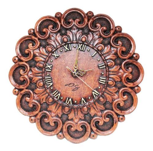 Relógio De Madeira, De Parede, Barroco, Rústico, Decoração
