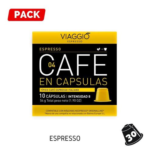 Pack 30 Cápsulas Café Viaggio Espresso Para Nespresso®