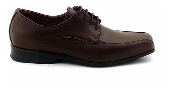 Zapato Vestir Hombre Cuero Cordon Briganti Goma Febo Negro