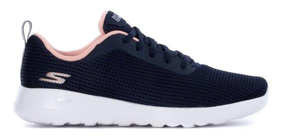 Zapatillas Skechers Go Walk Joy W Azul/rosa - Cornerdeportes