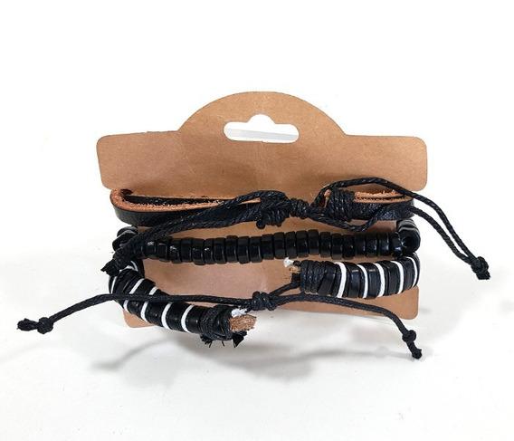 Pulseira Friendship Bracelets Em Couro