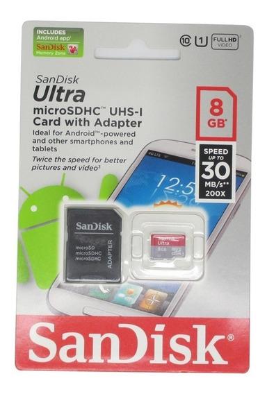Cartao Memoria Sandisk 8gb Classe 10 Ultra Original
