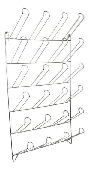Escorredor Secador De Copos De Parede Para 24 Copos Inox