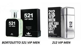 Perfume 521 Vip Men Bortoletto 100ml Inspiração 212 Vip Men