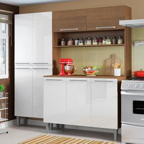 Cozinha Completa Compacta Madesa Star Com Armário E Balcão