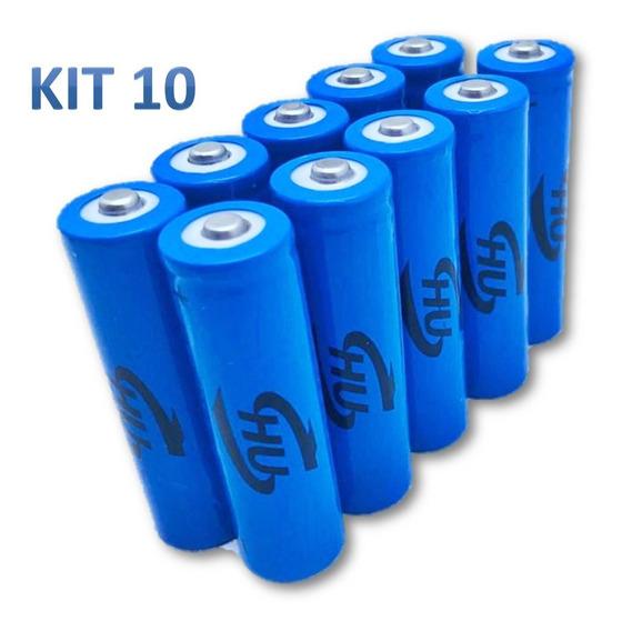 Kit 10 Baterias 18650 9800mah 4.2v Para Lanternas Tática Led