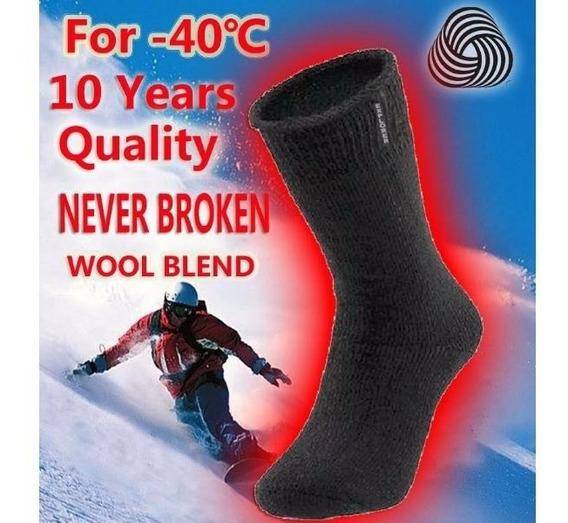 10 Meia Térmica Felpuda Frio Neve Inverno Brinde Luva+touca