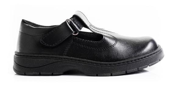 Zapatos Guillermina Colegiales Nena Color Negro Base Cocida