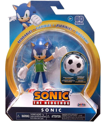 Sonic The Hedgehog 10cm Soccer Sonic Flexible