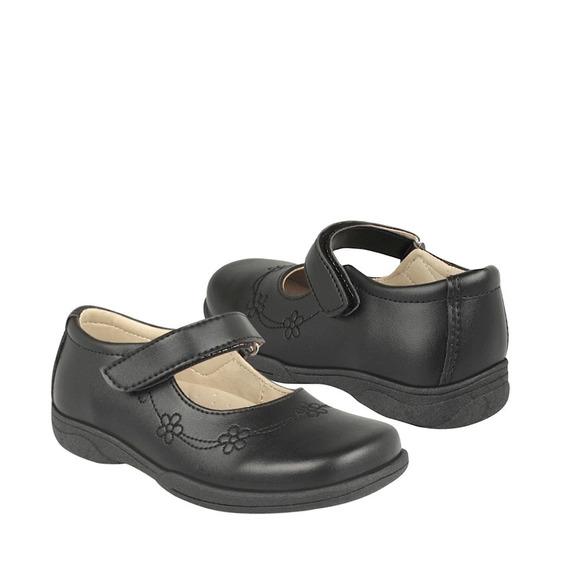 Zapato Escolar Stylo Para Niña Simipiel Negro 17417
