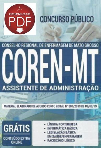 Apostila -assistente De Administração-concurso Coren Mt 2019