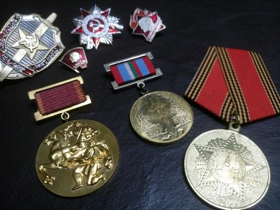 Insignias Medallas Urss Cccp Rusia Comunista Lenin Kgb
