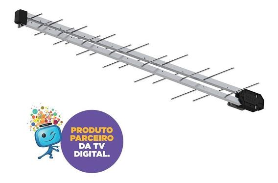 Antena Digital Black Externa - 28 Elementos Prohd-1040db