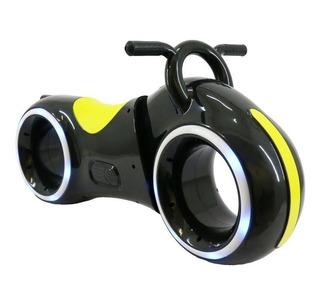 Montable Mini Moto Tron Led Amarilla Bocina Para Niños