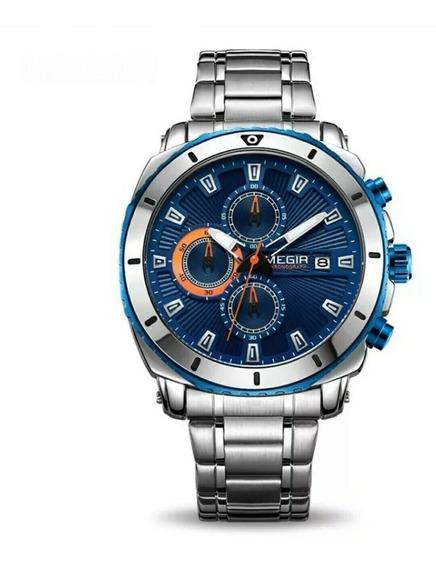 Relógio Megir 2075 Original Luxo Elegante Prova D