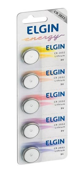 Kit 10 Baterias Cr2032 3v Lithium Elgin Moeda Cartela