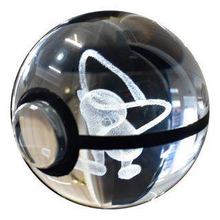 Pokebola De Cristal 3d 5cm Mewtwo Y Otros Pokemon