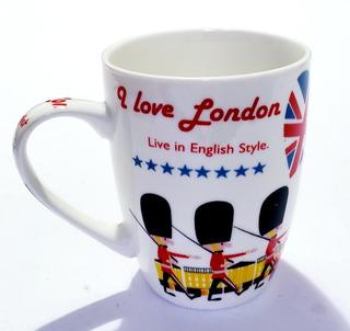 Taza Cafe Ceramica Londres London Estilo Ingles Guardia 01