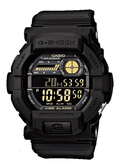 Casio G-shock Gd-350-1b Gshock Gd350 Alarme Vibratório
