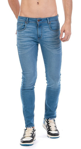 Imagen 1 de 7 de Jeans Pantalón De Mezclilla Caballero Skinny Stone Tiger