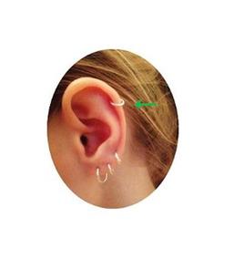 Piercing Orelha Cartilagem Prata 925 8mm Argola Argolinha P1