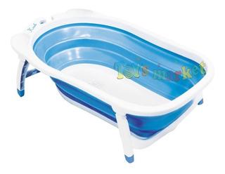 Bañera Karibu Plegable Bebe Bañadera Flexi Con Termómetro