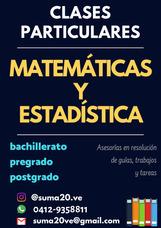 Clases Particulares Profesor De Matemáticas Y Estadística